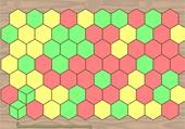 Tous les hexagones de la même couleur