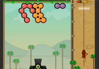 Jeux de balle avec un singe