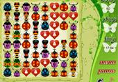Aligne les insectes et les coeurs